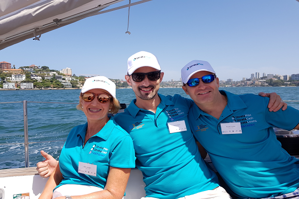 SCA NSW Sailing Day on the beautiful Sydney Harbour with the StrataMax Crew
